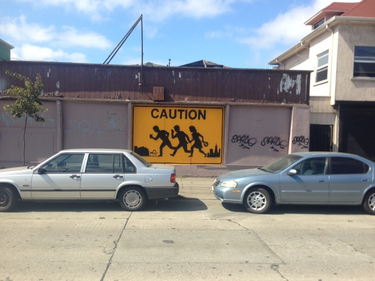 Caution Gentrification © 2015 Barbosa Prince